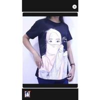 hzb collection - kaos lengan pendek wanita cotton motif wanita hijab