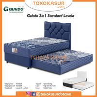 2in1 Guhdo Standard 160x200 Komplit Set Sandaran Lavela