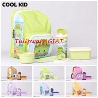 Set Bekal Anak + Tumbler Karakter + Ransel Anak / Cool Kids Tulipware