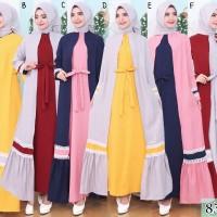 Baju Gamis Wanita Terbaru Gamis Sabyan Bahan Mosscrepe 8311