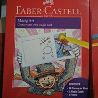 mazig art faber castell 10 connector pens 3 magic cards 1frame