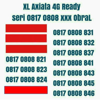 kartu perdana nomor XL Axiata 4G ready nomor cantik 11 Digit AbAb 0808