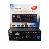 Ampli Mini Rinrei SR822 Bluetooth USB MMC FM Radio Power Amplifier