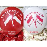 Balon Latex Dirgahayu RI 10 pcs Mix/ Balon HUT RI/ Hiasan 17 Agustus