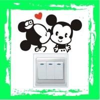 Sticker Wallpaper Dinding Minnie Mickey - Black