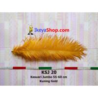 Bulu Kasuari Jumbo Kuning Gold (KSJ 20)