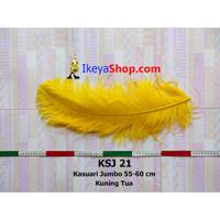Bulu Kasuari Jumbo Kuning Tua (KSJ 21)