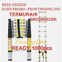 Tangga Lipat Aluminium Teleskopik 3.8M Single Telescopic Ladder 3.8 M