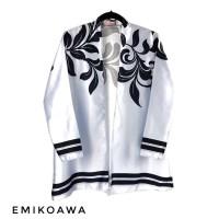 Outer Grey&Black Emikoawa / Cardigan / Souvenir / Berkualitas