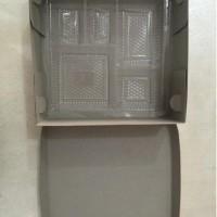 Box Nasi Polos Super Tebal Uk. 20x20 + Mika (isi 50pcs)