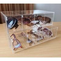 Acrylic organizer akrilik tempat kacamata 2laci