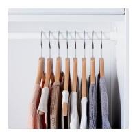 BUMERANG Gantungan Baju Hanger Kayu, set isi 8, kayu alami