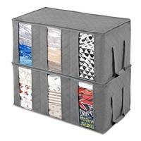 JC Foldable Clothes Storage Organizer 3 Window