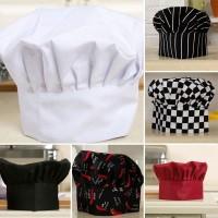Harga angela topi chef tukang roti kue katering bahan polyester nyaman   antitipu.com
