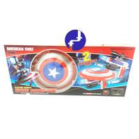 Mainan Anak Tembakan Air Soft Bullet Blaster Captain America Tameng 80