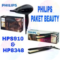 Paket Beauty Philips Hair Dryer & Hair Straightener HPS910 HP8348