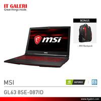 Laptop Gaming MSI GL63 8SE-087ID Black Murah