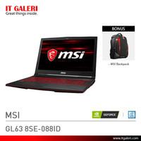 Laptop Gaming MSI GL63 8SE-088ID Black Murah