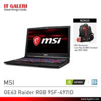 Laptop Gaming MSI GE63 Raider RGB 9SF-497ID Black Murah