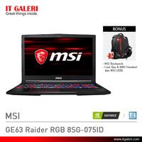 Laptop Gaming MSI GE63 Raider RGB 8SG-075ID Black Murah