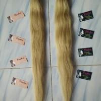Hair extension rambut sambung blonde bleaching 60cm -65cm 20 helai thumbnail