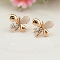 anting kupu-kupu lovely butterfly small earrings jan171