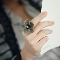 cincin bunga retro large flower ring jci051