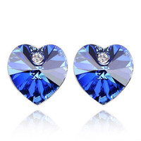 anting hati crystal heart earrings jan170