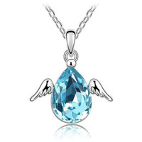 kalung little angel wings crystal necklace jka165