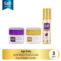 Paket Safi Age Defy (3) Day & Night Cream 20gr & Gold Water