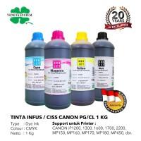 TINTA INFUS / CISS CANON BLACK / COLOR 1 KG SET