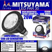 lampu sorot led par e27 20w putih