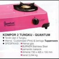 Kompor Gas 2 Tungku Quantum Tupperware warna pink