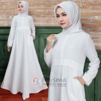 Gamis Putih Polos / Gamis Putih Kombinasi Renda / Gamis Haji Dan Umroh