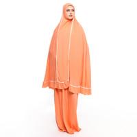 Hijab Qiyada & Maysuun Hijab Qiyada Mukena Shofa - Orange