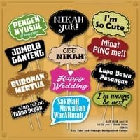 """Props Photobooth Birthday, Wedding or Other Parties seri """"Say Box 10"""""""
