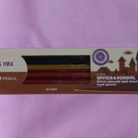 Pensil Chung Hwa Kayu Serut Model Metalik Seri 8899 1 lusin