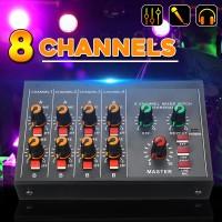 8 Channels Mini Portable Mixer Audio Record DJ Studio Record Console
