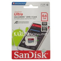 MicroSDXC SanDisk Ultra UHS-1 A1 64GB Up To 100MB/s Non Adapter