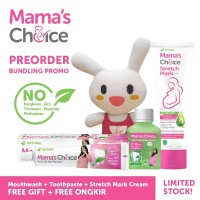 Paket Pasta gigi, Mouthwash & Stretch Mark Cream Mama's Choice