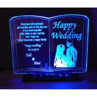 Plakat Akrilik / Acrylic Wedding LED Gambar CUSTOM / Lampu Tidur