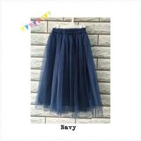 Long Tutu Skirt Bayi 1-3Tahun | Rok Tutu Panjang baby hijabers - navy