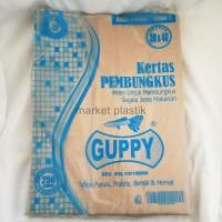 Kertas nasi/kertas nasi murah/kertas makanan/KN GUPPY BIRU @250LBR
