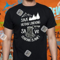 Kaos Baju Pakaian OUTDOOR SAVE HUTAN LINDUNG GUNUNG SLAMET