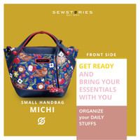(ANNIVERSARY SALE) SLINGBAG : MICHI PAINTING AND CARVING NAVY