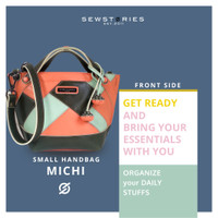 SLING BAG : MICHI PATCHWORK PEACH TAUPE (PREORDER)