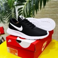Sepatu Nike Zoom Tanjun Hitam Putih Sneakers Pria Casual Sport Import