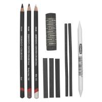 Derwent Charcoal Set - pensil arang - alat lukis