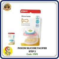Pigeon Silicone Pacifier Step 2,Empeng Bayi usia 6-8 Bulan