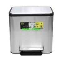 tong tempat sampah recycle 2 kotak 12L & 12L kompartemen eko